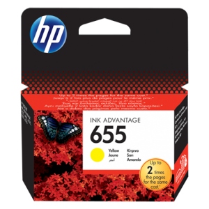 HP 655 Yellow Original Ink Advantage Cartridge