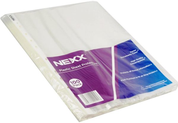 Plastic Sleeves, A4 (Pack of 100)