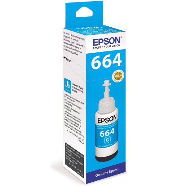 Epson T6642 EcoTank 70ml Cyan Ink Bottle